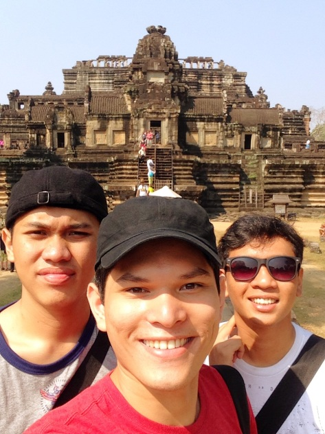 Taken in front of Bapuon, in  Angkor Thom