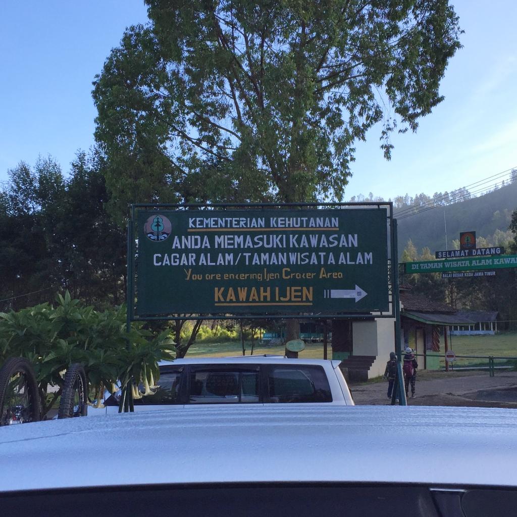 Ijen sign board