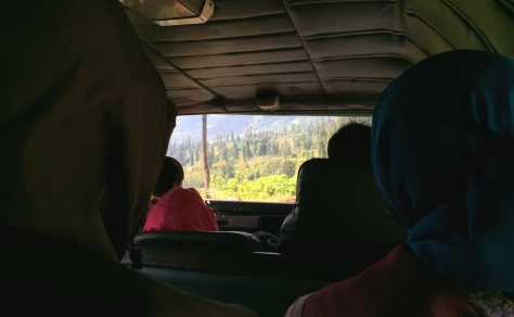 On the way to Probolinggo. Squeezy but great scenery!