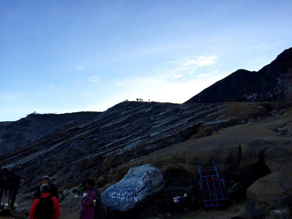People on caldera
